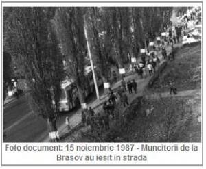 Foto Document 15 noiembrie 1987 Brasov