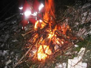 focul facut de salvatori