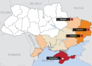 map-of-pro-russian-protests-in-ukraine